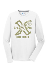 PV X-Plosion Limited Edition Metallic Gold Design Long Sleeve Blend Tee-White