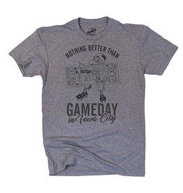 Rah-Rah Clothing Gameday In Iowa City Triblend Short Sleeve Tee-Grey