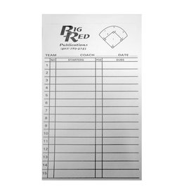 Big Red Baseball/Softball Line Up Cards (set of 12)