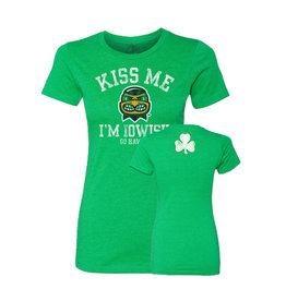 Rah-Rah Clothing Kiss Me I'm Iowish Ladies Short Sleeve Tee
