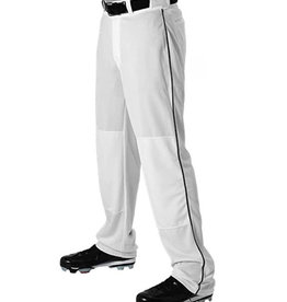 Alleson YOUTH Open Bottom Baseball Pants with Piping (12 oz)