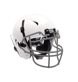 Schutt Schutt Vengeance A11 YOUTH Football Helmet White with Grey Carbon Steel Face Guard