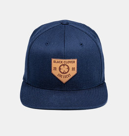 Rawlings Black Clover Leather Patch with Rawlings Patch Flex Fitted Cap