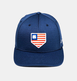 Rawlings Black Clover Rawlings All Star Woven Flag Patch with Rawlings Patch Flex Fitted Cap