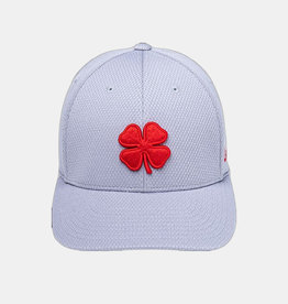 Rawlings Black Clover The Shift 3D Red Clover with Rawlings Patch Flex Fitted Grey Cap