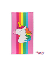 Top Trenz Rainbow Stripe Unicorn Beach Towel