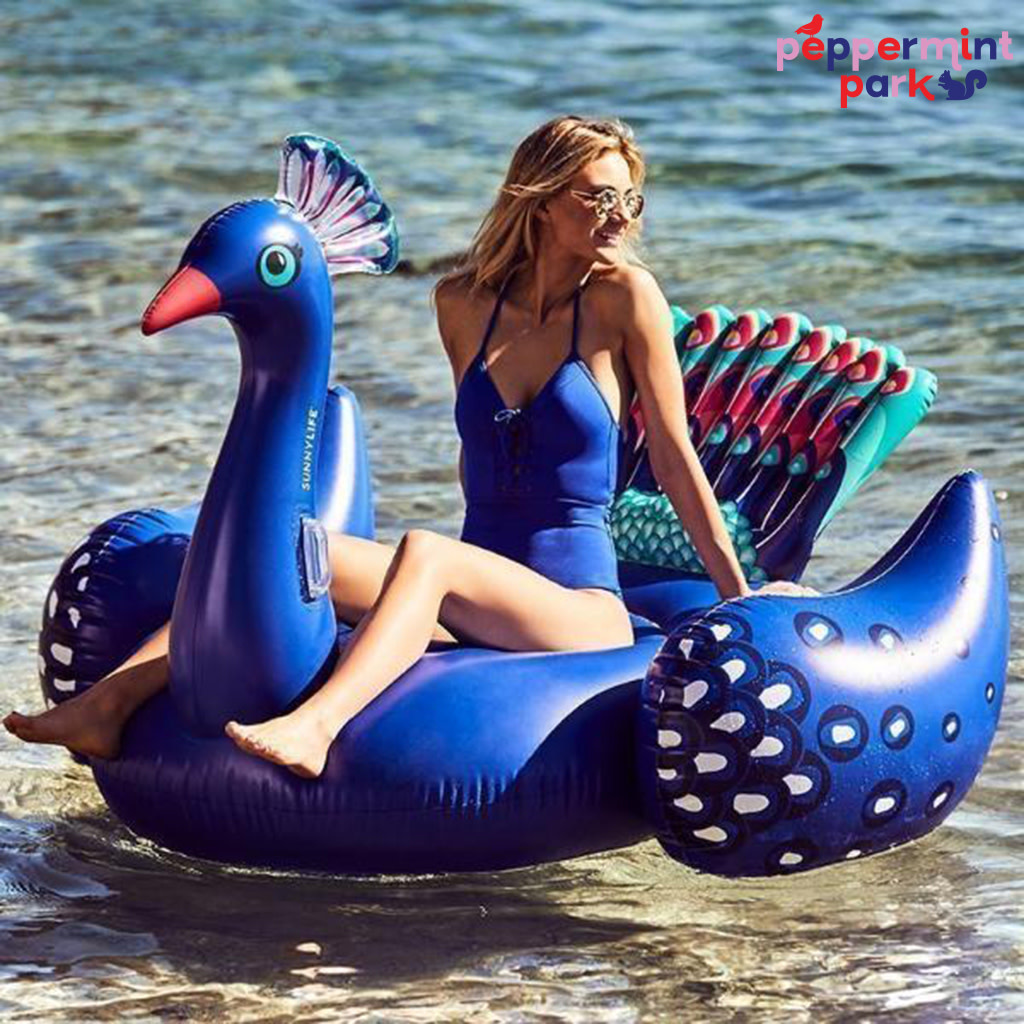 Sunny Life Luxe Ride On Peacock Pool Float