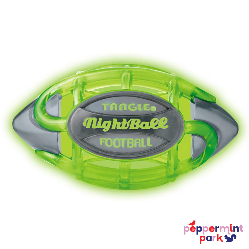 Tangle Nightball Football Light Up Green