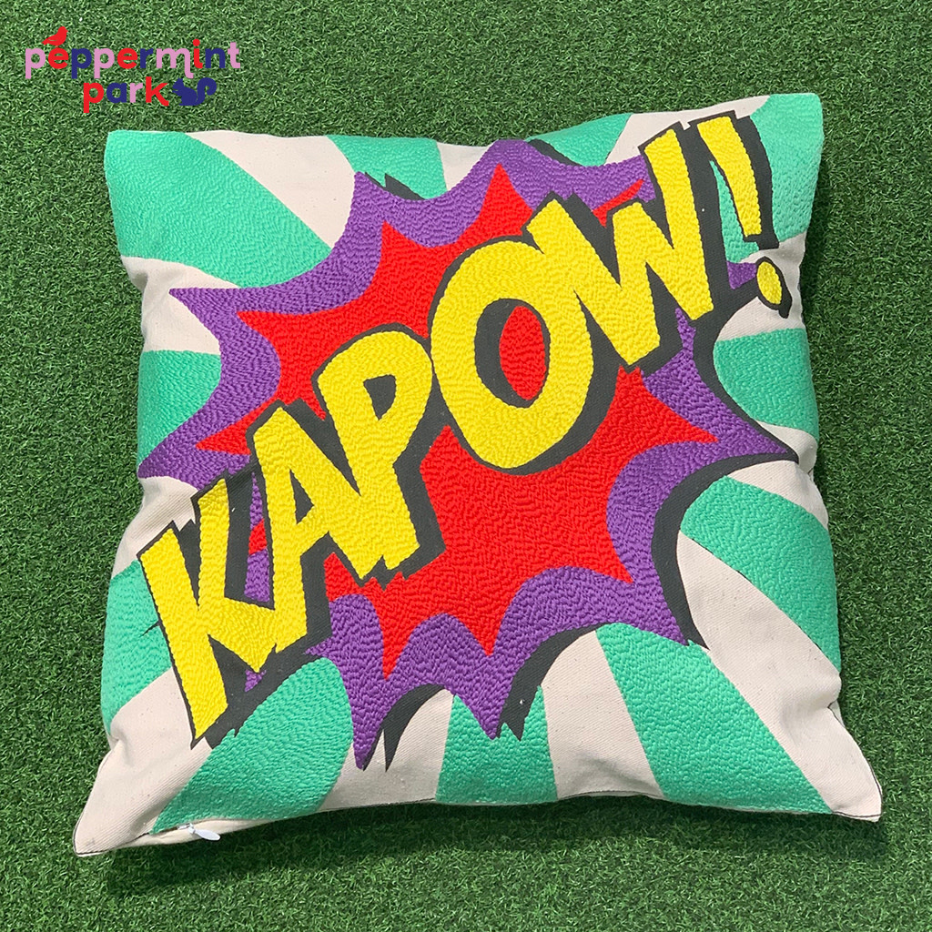 La Casa Cotzal KAPOW Pop Art Pillow