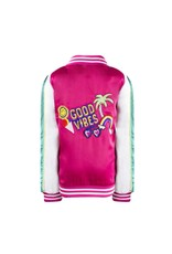 Lola & The Boys Good Vibes Satin Bomber