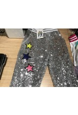 Lola & The Boys Star Silver Sequin Joggers