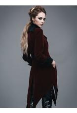 Burgundy Velvet Gothic Swallotail Coat