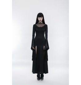 Gothic Long Split Skirt Dress