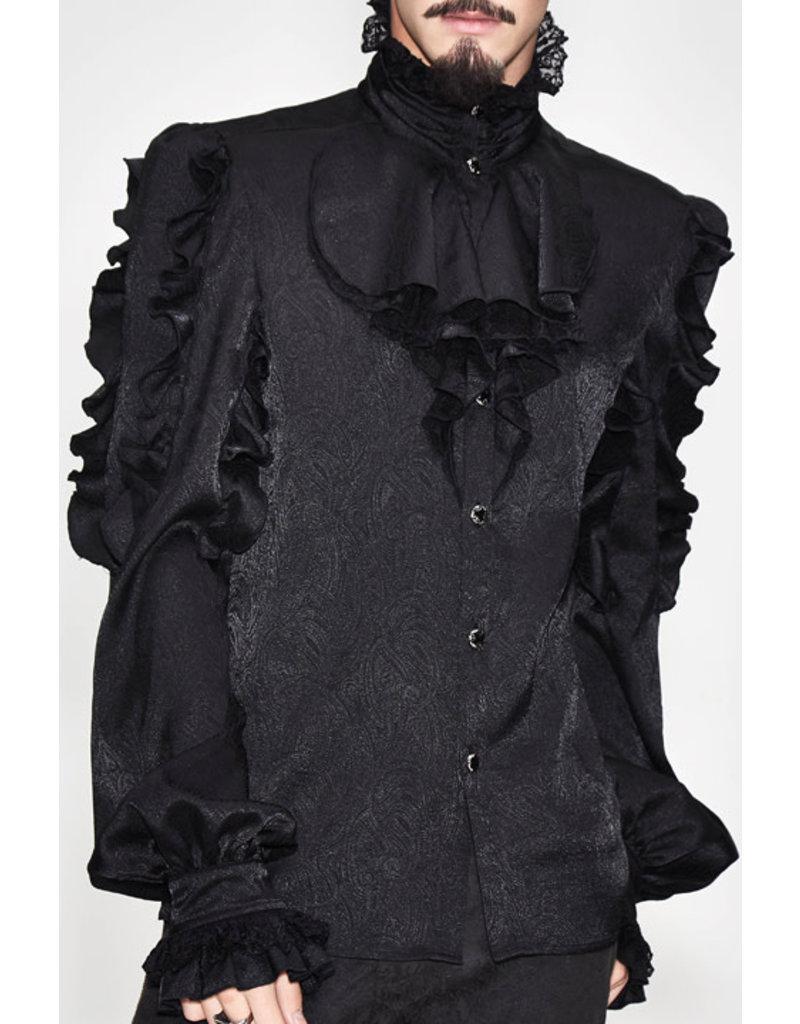Pirate Black Ruffle Shirt