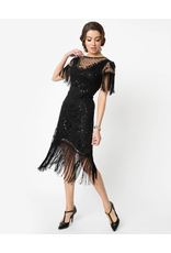 1920s beaded Flapper Dress w/ Fringe