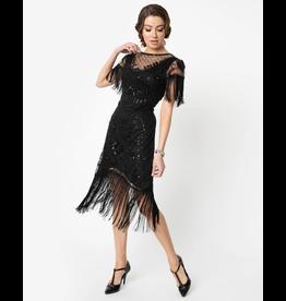 1920s beaded Flapper Dress w/ Fringe