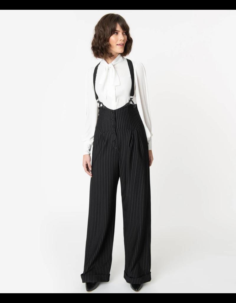 1930s Pin Stripe Suspender Pants