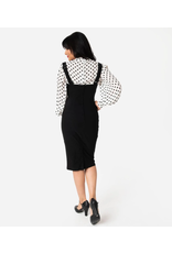 High Waisted Suspender Pencil Skirt