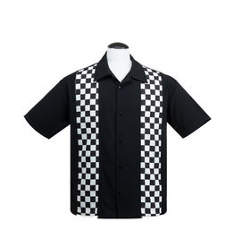 Checkered Mini Panel S/S Bowler Shirt