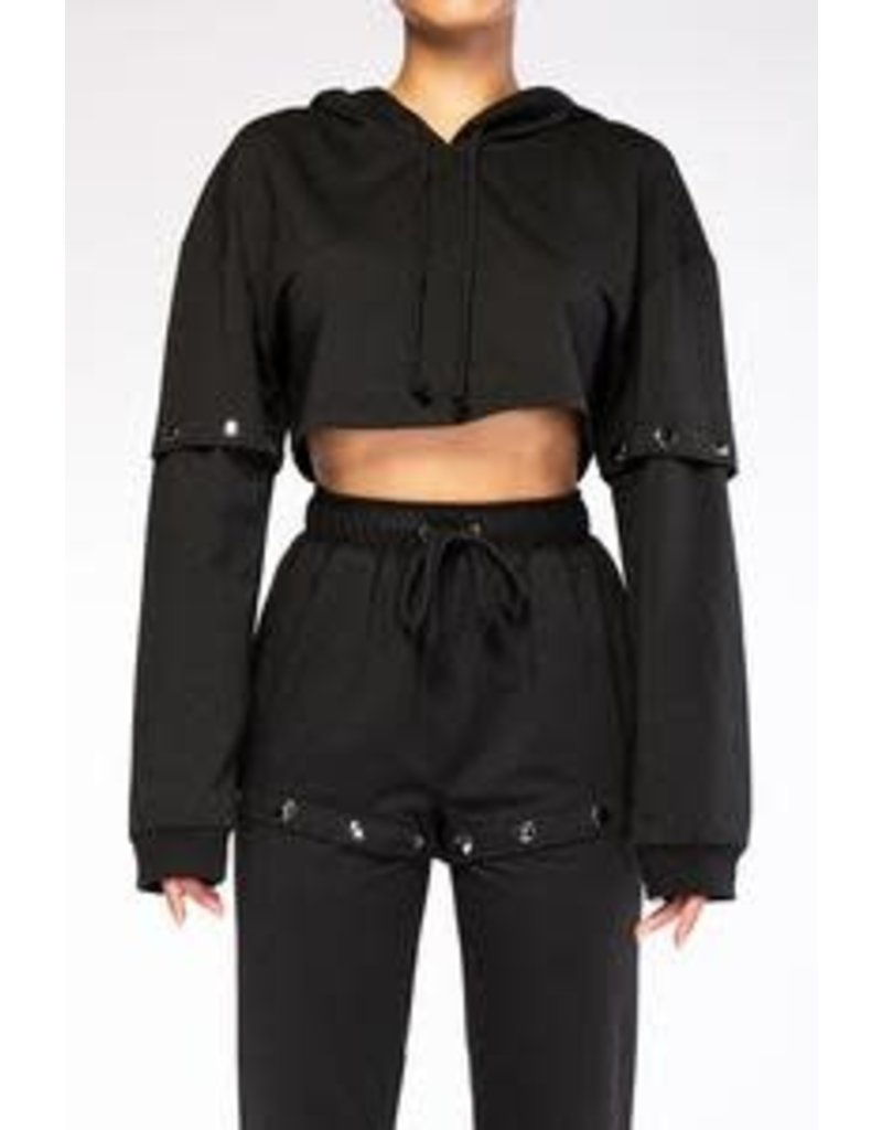 Black Fleece Crop Set
