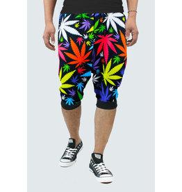 Colorful Marijuana Jogger Shorts
