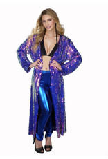 Long Sequin Multi Color Duster