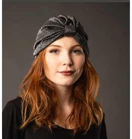 JENNAFER GRACE Gunmetal Shimmer Turban