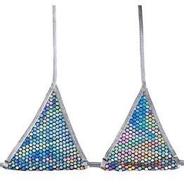BGLITTZ Technicolor Triangle Top