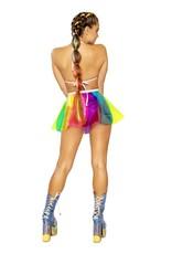 Beach Ball Rainbow Vinyl Triangle Top