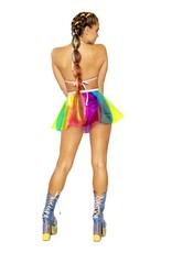 Beach Ball Rainbow Vinyl Pinwheel Skirt