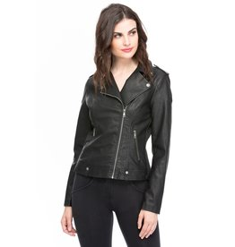 COALITION APPAREL Vegan Leather Moto Jacket