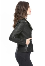 COALITION APPAREL Vegan Leather Traditional Moto Jacket