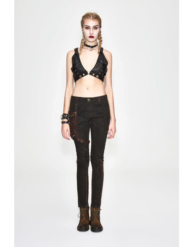 Punk PU Leather Bralette Harness