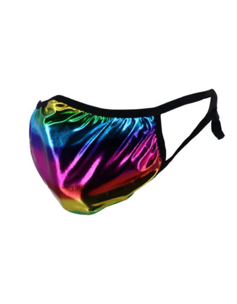 Rainbow Metallic Fabric Mask