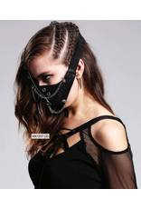 Face Mask w/ Chains Gray
