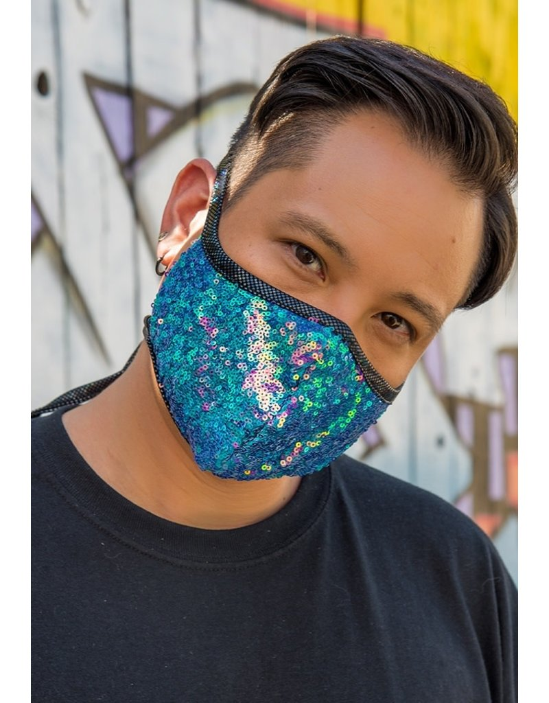 Sequin Tailored Mask