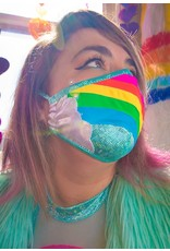 Rainbow Cloud Metallic Tailored Mask