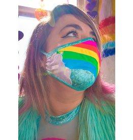 Rainbow Cloud Metallic Tailored Mask