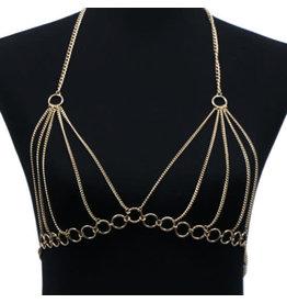 Gold Disco Bra Top Chain