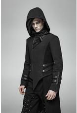 Punk Long Hooded Coat, Split Jacket