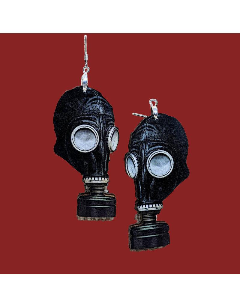 Iamsonotcool Gas Mask Earrings
