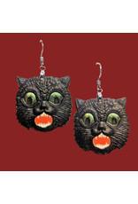 Iamsonotcool Vintage Black Cat Earrings