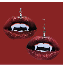 Iamsonotcool Vampire Lips Earrings