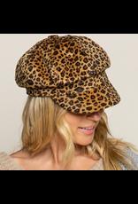 Cheetah Print Newsboy Cap
