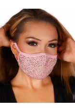 Rhinestone Double Layered Mask with Filter