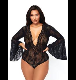 Full Figure Lace Bodysuit