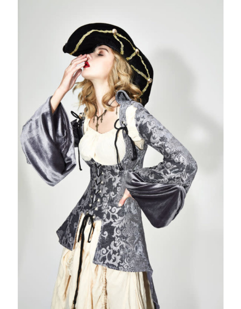 Silver Victorian Pirate Jacket