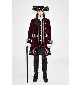 Burgundy Captain Coat