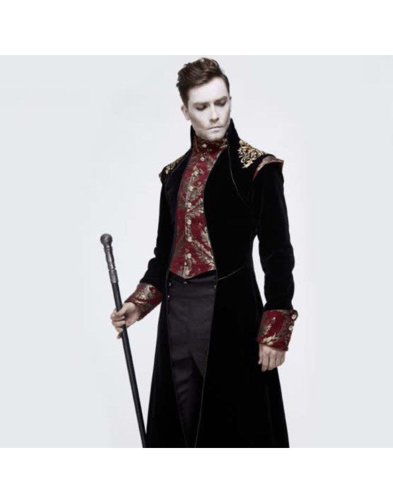 Black Victorian Velvet Coat