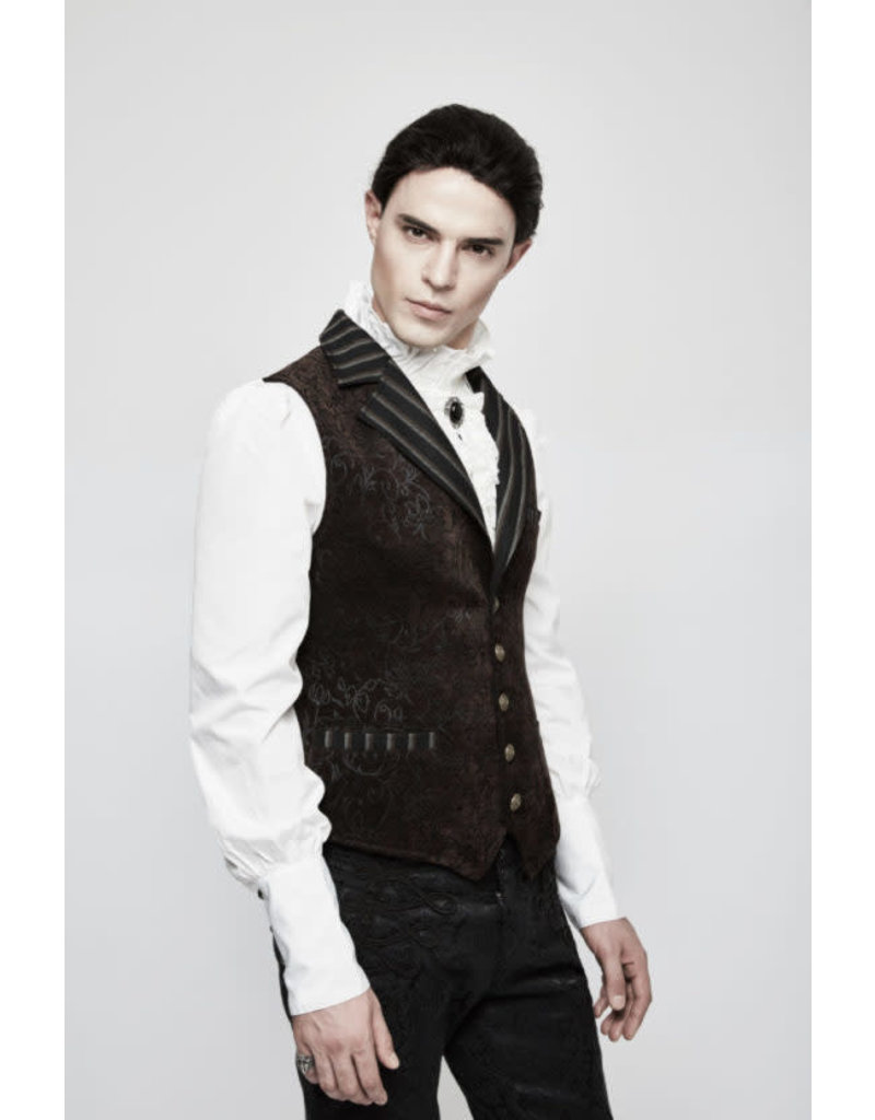 Steampunk Vintage Jacquard Vest